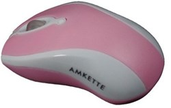 Picture of Amkette Wave Optical USB Mouse with 800 DPI & Optical Sensor (Pink)