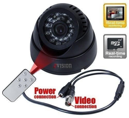Picture of ZVision CCTV Dome 24 IR Night Vision Camera DVR with Memory Card Slot Recording (BNC)
