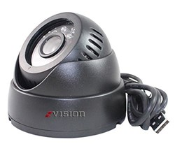 Picture of ZVision USB Port CCTV Dome 24 IR Night Vision Camera DVR with Memory Card Slot Recording (USB)