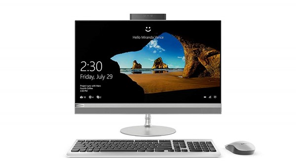 "Picture of Lenovo Mainstream AIO 520 22I KU F0D500BWIN(CI3-7020U-4GB-1TB-W10-Integrated Gfx -21.5"" FHD-Borderless-Touch)"