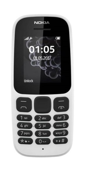 Picture of Nokia Mobile 105 TA-1010 IN CM (White,4MB RAM,4MB Storage)