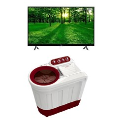 "Picture of 32"" HD Ready LED TV+7.2 Kg Semi Automatic Washing Machine"