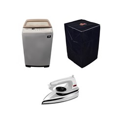 Picture of Samsung 6 Kg Top Load Fully Automatic Washing Machine+Usha Iron Box+Cover