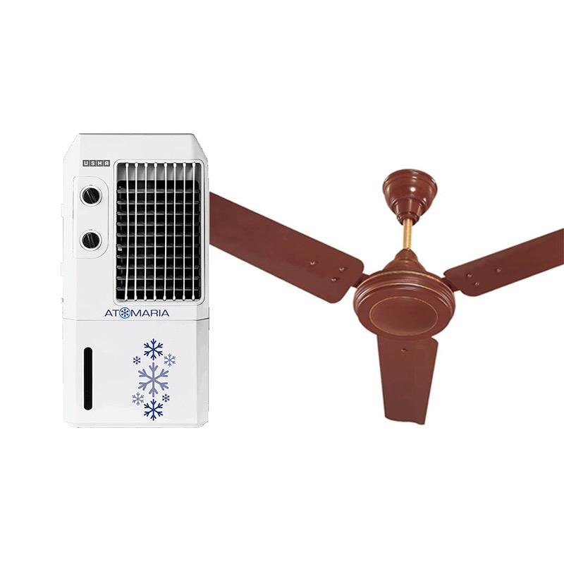 Buy Usha Air Cooler 9l Atomaria 9ap1 White Pc Online Best Prices Sathya