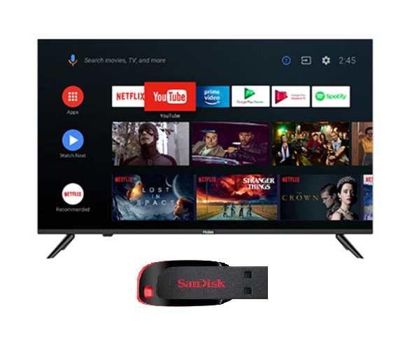 Picture of Haier LE40K6600GA Android Smart AI Plus LED TV+Gift Sandisk 32GB Pendrive