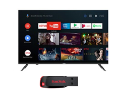 Picture of Haier LE32K6600GA Android Smart AI Plus LED TV+Gift Sandisk Pendrive 32GB