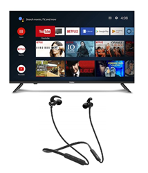 Picture of Haier LE43K6600GA Android Smart AI Plus LED TV+boAt Bluetooth Headphone Rockerz 255R