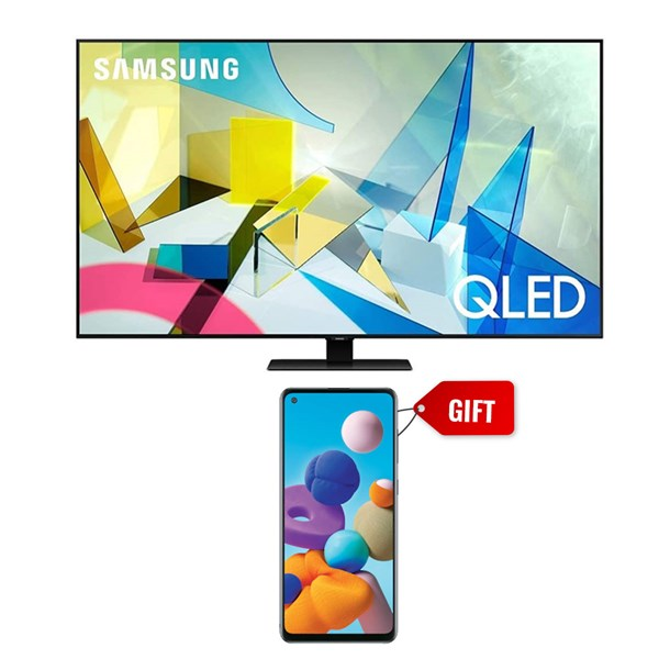 "Picture of Samsung 55"" QA55Q80T 4K Smart QLED TV+GIFT Samsung Mobile A217FF Galaxy A21S 6GB RAM,64GB Storage"