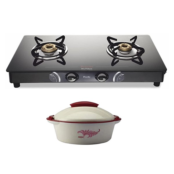 Picture of Preethi Stove Bluflame Gleam 2B MS - GTGS002+Preethi Gift Milton Crisp Hot Box 2.5L
