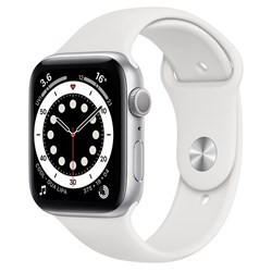 Picture of Apple Watch Series 6 GPS Plus Cellular 44mm Silver Alu Case With White Sport Band Regular
