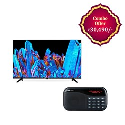 "Picture of Sansui 43"" JSW43ASFHD FHD LED Smart Android LED TV+Portronics Plugs Portable Speaker"