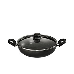 Picture of Butterfly Appliances Granza Flat Base Kadai 240mm With Glass Lid