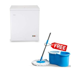 Picture of Haier 142 Litres HCF-175HC Deep Freezer +Free Spin Mop