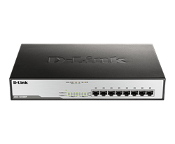 Picture of D-Link DGS-1008MP Unmanaged Switch (8 Port)
